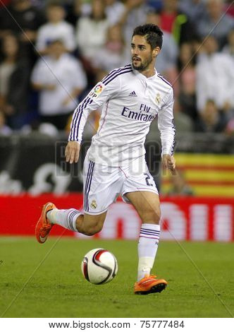 BARCELONA - OCT, 29: Isco Alarcon of Real Madrid during the Spanish Kings Cup match against UE Cornella at the Estadi Cornella on October 29, 2014 in Barcelona, Spain