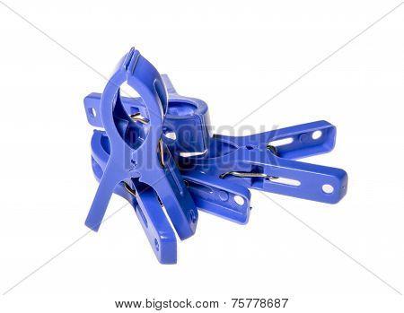 Many Blue Clothespeg