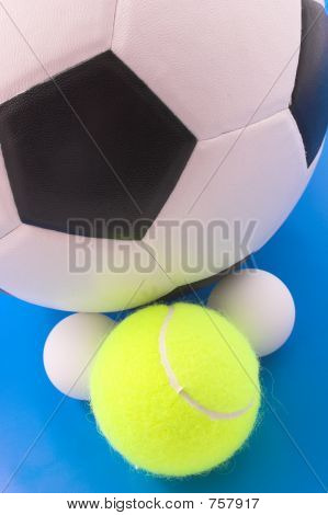 Group of sport balls