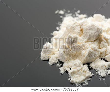 Cocaine on grey