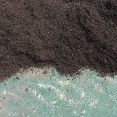 Soil surface background manure compost prepared for a farmland poster