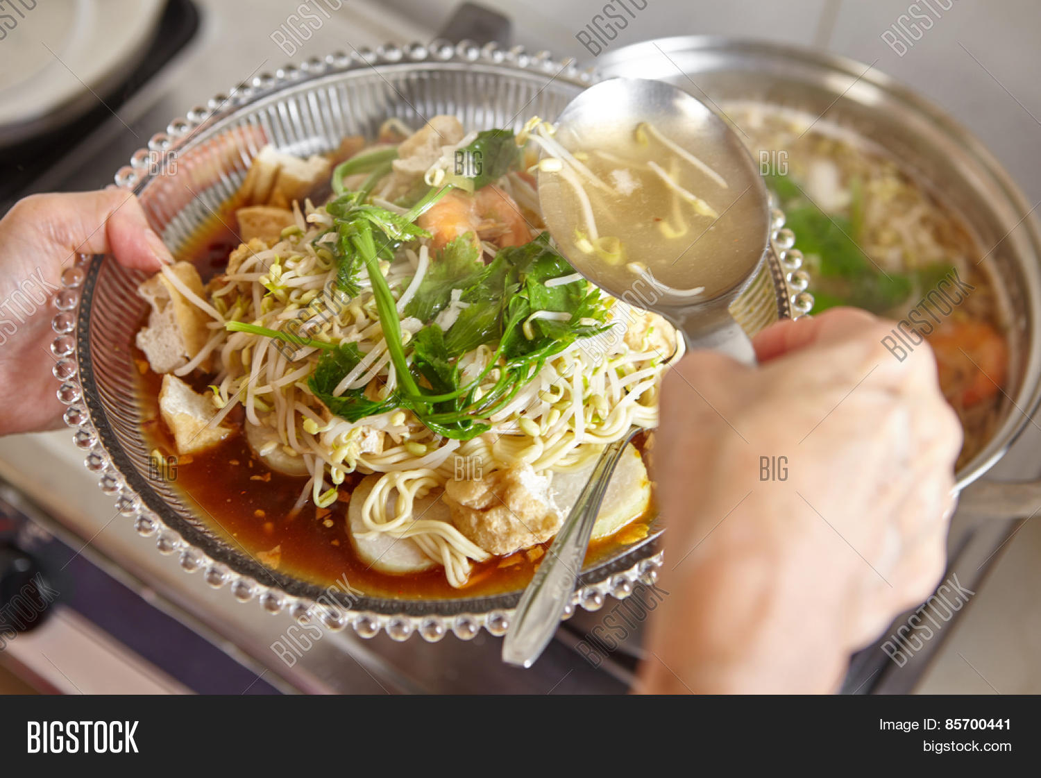 Lontong mie indonesian image photo free trial bigstock lontong mie in indonesian for its famous traditional food or in english maybe spelled rice forumfinder Images
