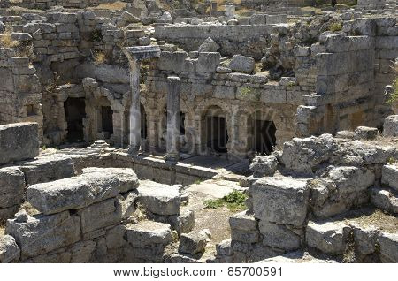 Ruins Of Historical Ancient Corinth