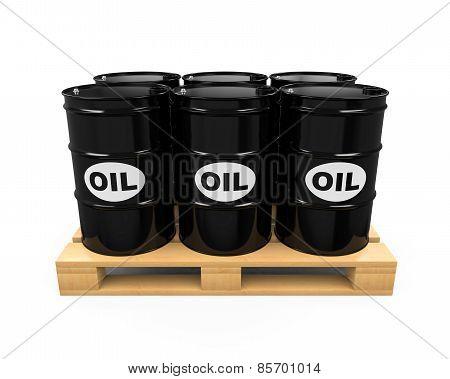 Pallet of Oil Drums