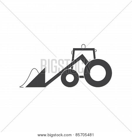 Tractor With Snow