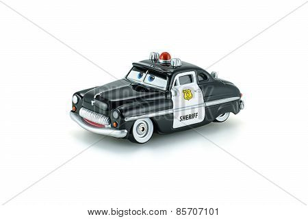 Sheriff Traffic Corp A Die Cast Toy Character From Disney Pixar Cars Animation Movie.