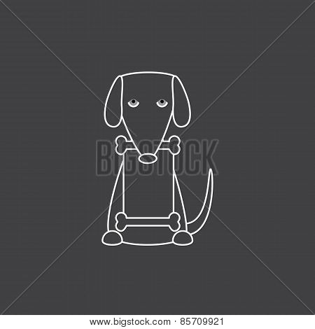 Dog With Banner