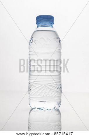 Clear drinking water bottle.