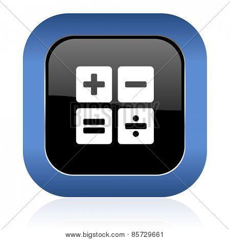 calculator square glossy icon calc sign