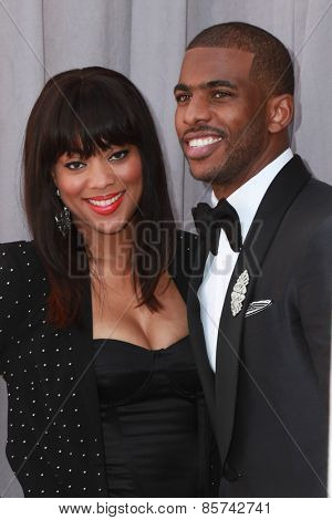 LOS ANGELES - MAR 14:  Jada Crawley, Chris Paul at the Comedy Central Roast of Justin Bieber at the Sony Pictures Studios on March 14, 2015 in Culver City, CA