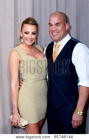 LOS ANGELES - MAR 14:  Tito Ortiz, Amber Miller at the Comedy Central Roast of Justin Bieber at the Sony Pictures Studios on March 14, 2015 in Culver City, CA