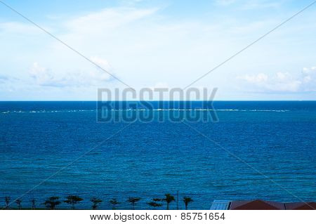 Clouds and blue ocean