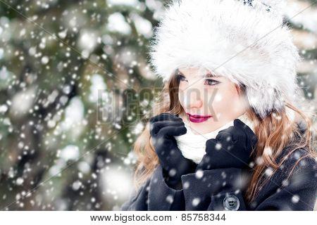 Portrait In Snowy Weather
