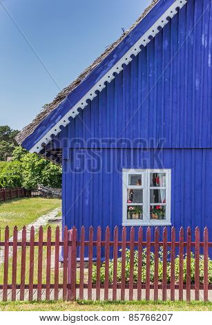 Traditional Wooden House On Curonian Spit Village Nida