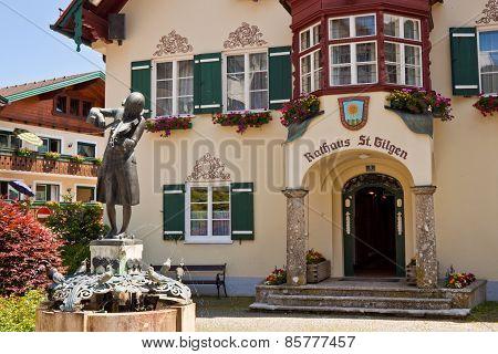 Statue Of Mozart In St. Gilgen