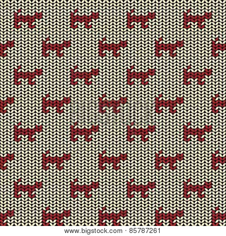 Fabric seamless background pattern with silhouette of cat