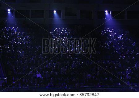 People Watch The Boxing Fight