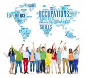 Occupation Job Careers Expertise Human Resources Concept poster