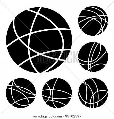 Simple black and white globe internet connection