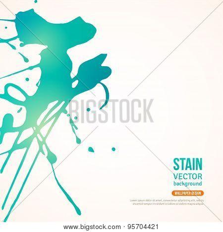 Splatter Paint Banner. Vector Illustration.