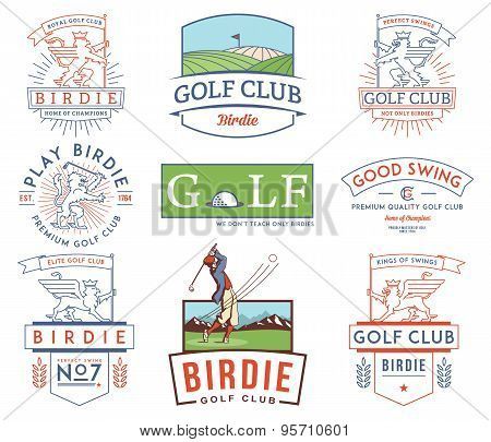 Golf Badges And Labels Vol 2 Colored