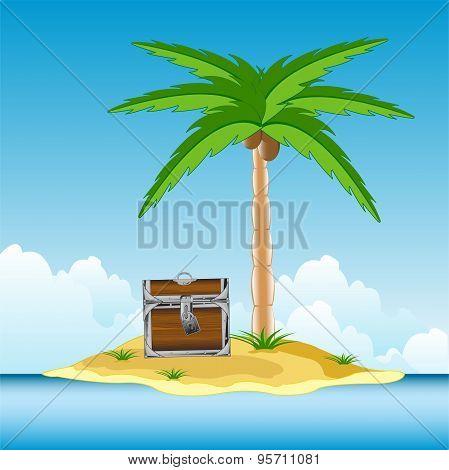 Coffer on island