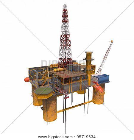 Oil Platorm Isolated
