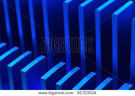 Blue Chipset Heatsink