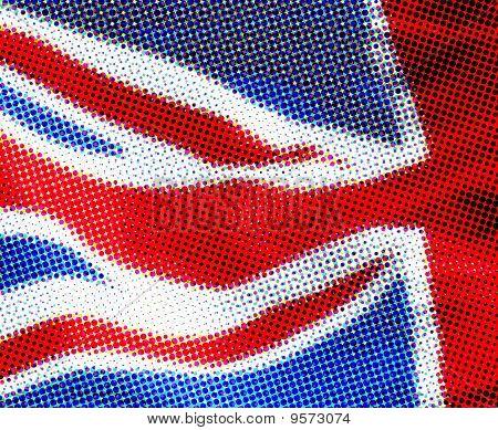 Halftone effect UK flag
