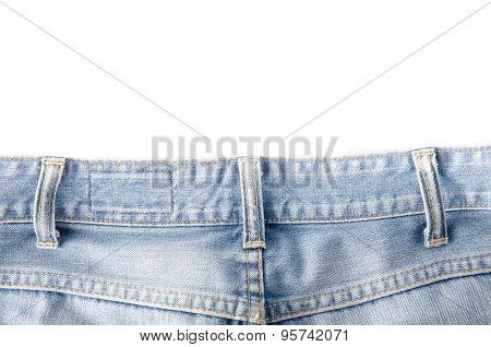 the Worn blue denim jeans texture background poster