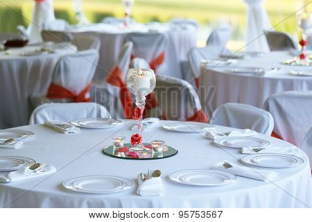 Formal Outdoor Place Setting