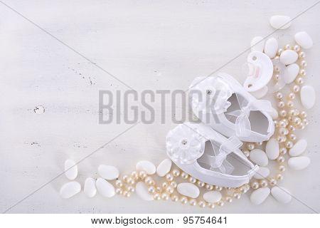 Baby Shower Neutral White Background.