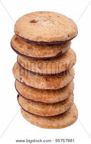 Cookies Pile On White Background