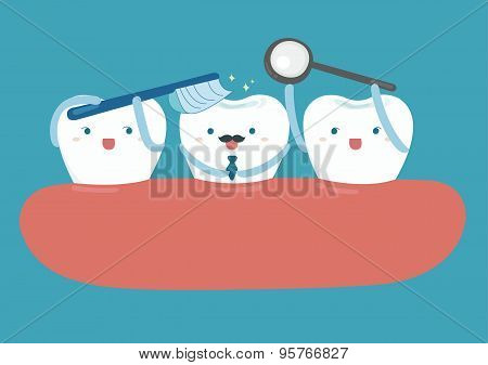 Star of good looking tooth