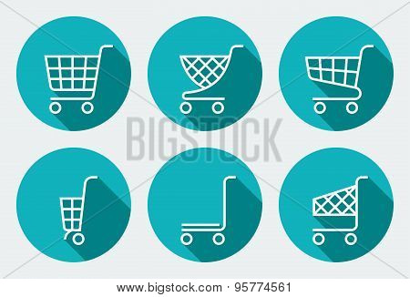 Shopping cart icon, shopping cart vector. Isolated supermarket trolley. Shopping cart logo. Shopping trolley sign. Vector shopping cart. Line style icon. Shopping cart icon set. Shopping Cart icon in different colors. Shopping trolley. Trolley icon.