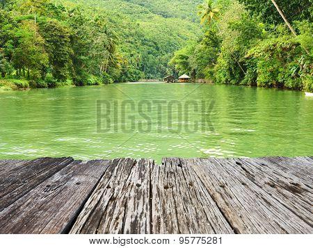 Tropical River running through rainforest