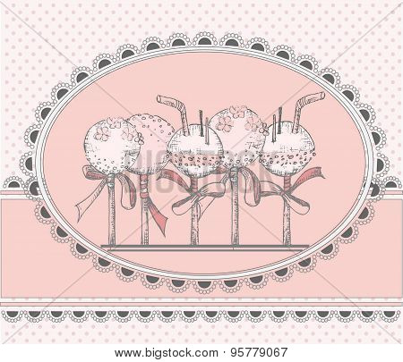 Vector Greeting Card With Cakepops