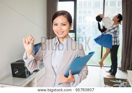 Estate Agent With Keys