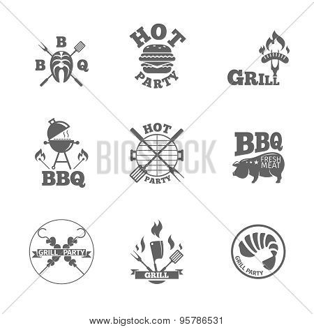 Barbeque labels or logos