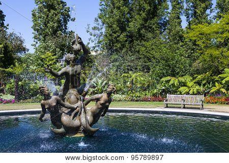 Triton Fountain In Regents Park