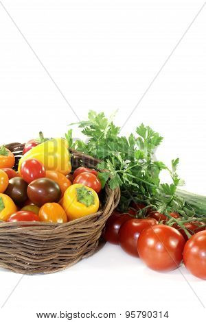 Vegetable Basket With Mixed Vegetables