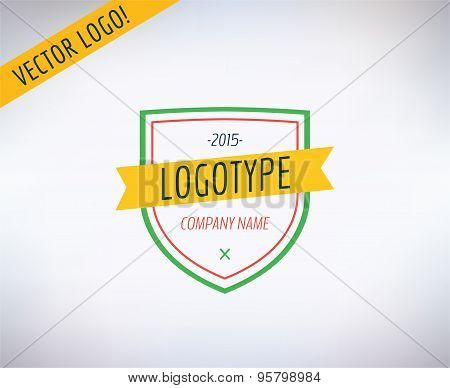 Vector logo icon. Business, bank and lawer symbol. Stocks design elements