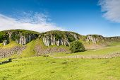 This splendid escarpment known as the Holwick Scar is part of the Whin Sill in Teesdale and popular with climbers poster
