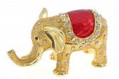 Jewelry box in form of an elephant miniature poster