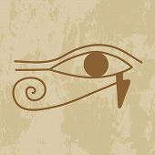 Egypt the hieroglyph of the eye of Providence on grunge background poster