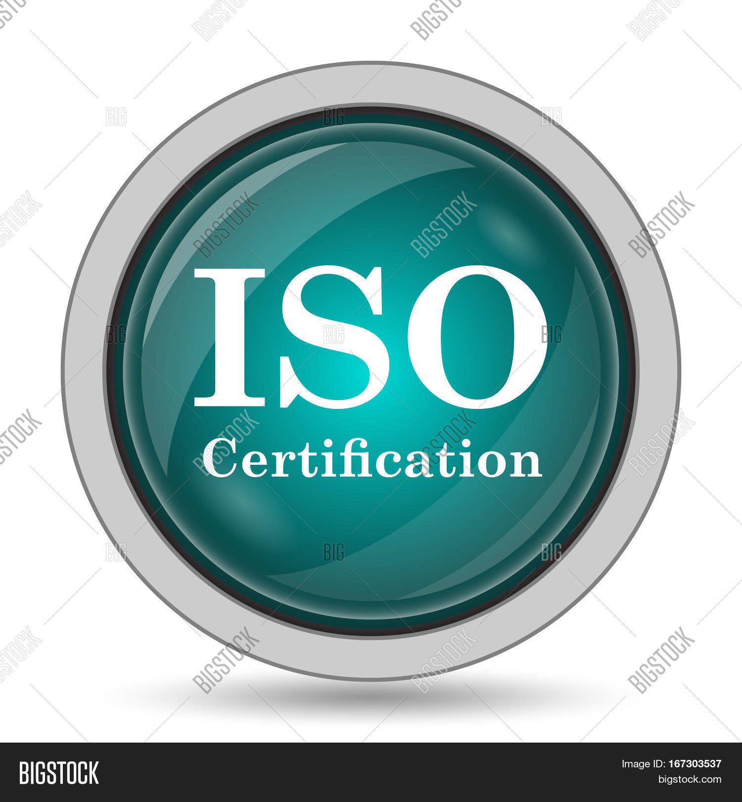 Iso Certification Icon Image Photo Free Trial Bigstock