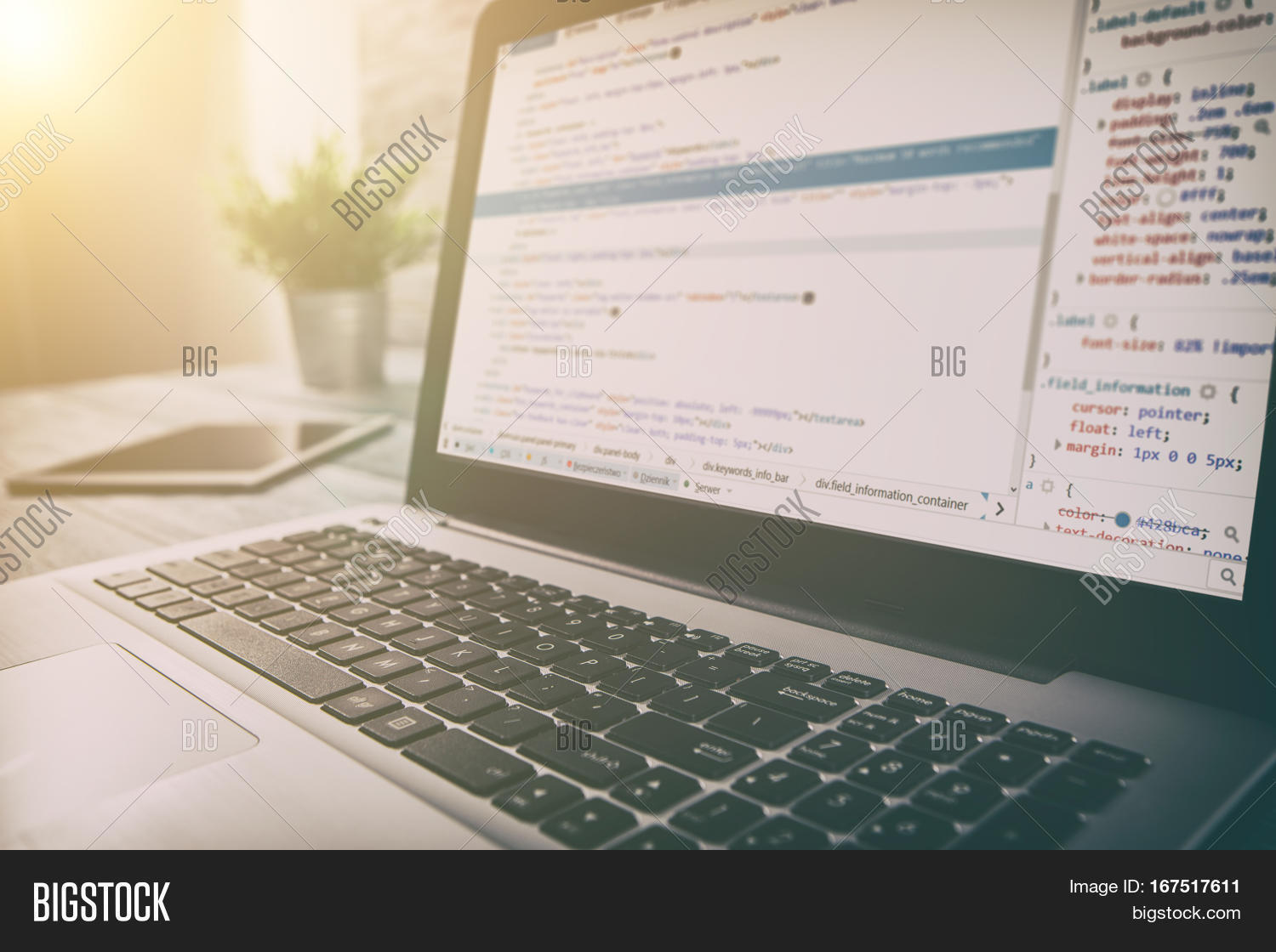 Coding Code Program Image Photo Free Trial Bigstock Electronic Design Software Programming Developer Compute Web Development Coder Work Closeup Desk Write Workstation