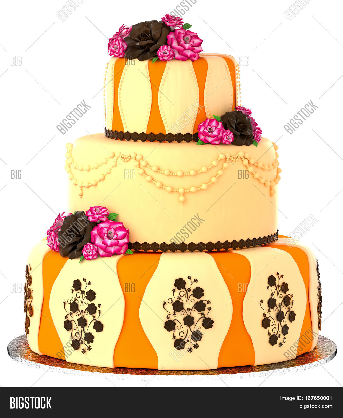 Three Tier Cake 3 Image & Photo (Free Trial) | Bigstock