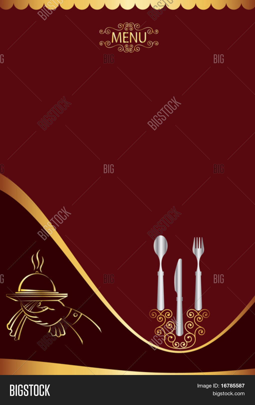 menu card design vector photo free trial bigstock