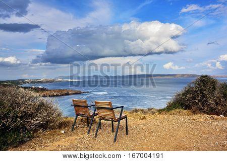 Aegean Sea, Cape Sounion, Attica, Greece